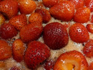 Strawberries Cooking Close-Up