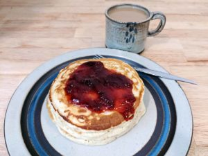 Strawberry Jam with Aged Balsamic on pancakes