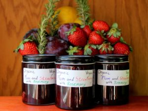 Plum and Strawberry Jam with Rosemary